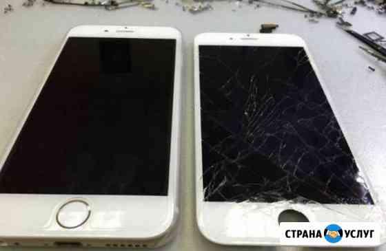 Замена стекол отдельно на дисплеях iPhone Абакан