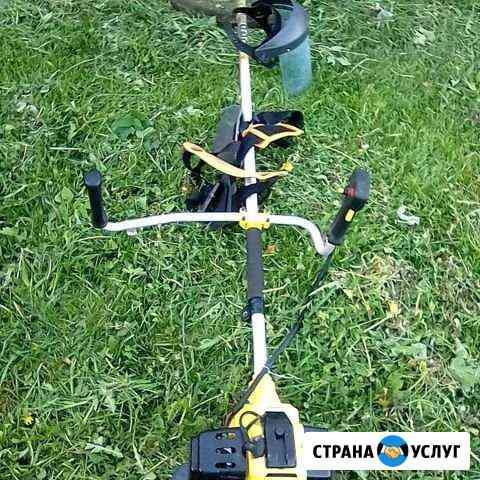 Покос травы на участке Петрозаводск
