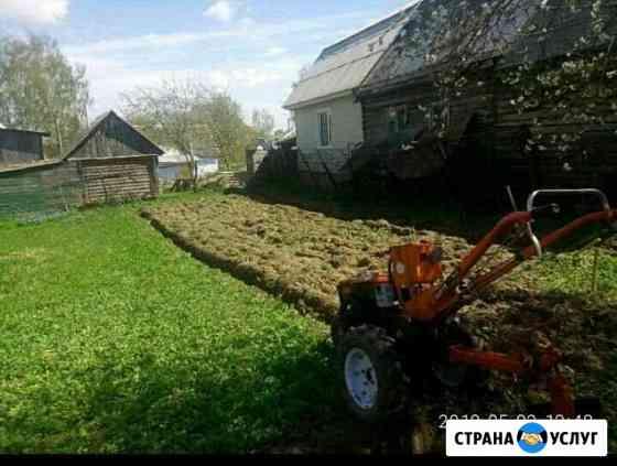 Вспашка и культивация земельного участка Рославль