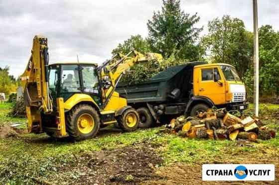 Расчистка и уборка участка, спил деревьев. Вывоз Рязань