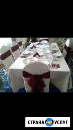 Прокат столы стулья посуда Анди
