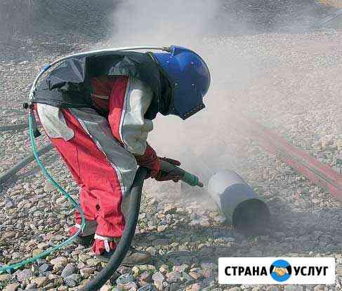 Пескоструйная очистка,антикор,услуги манипулятора Владимир