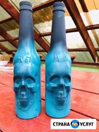 Декоративные бутылки на заказ Ростов