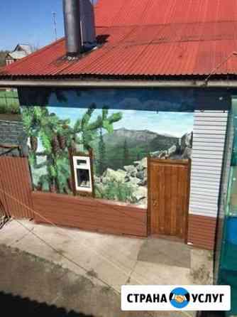 Роспись стен в квартире и офисе, барельеф Челябинск