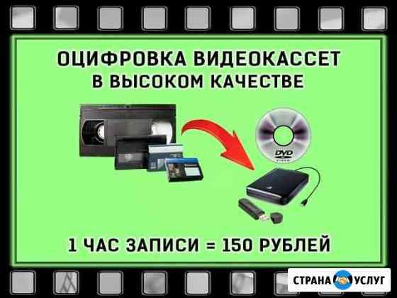 Оцифровка видеокассет Димитровград