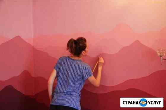 Роспись стен в спальне, детской комнате Уфа