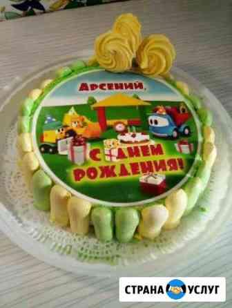 Пищевая печать на сахарной бумаге для торта Пермь