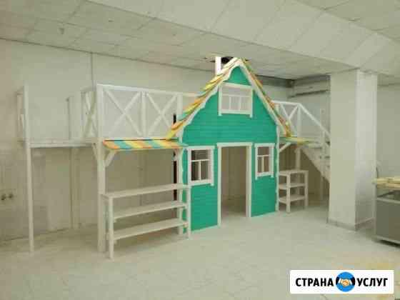 Изготовление детских домиков и игровых площадок Ижевск