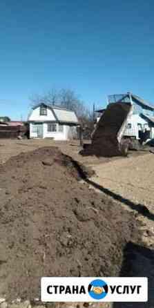 Продам перегной навоз в землю опилки песок с доста Биробиджан