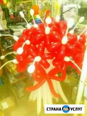 Цветы и корзины из шаров Новокузнецк