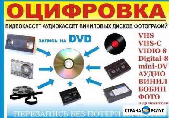 Оцифровка видеокассет с любых носителей Красноярск