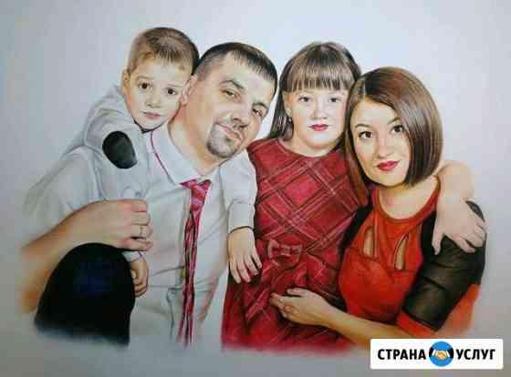Картины, портреты,шаржи по фото заказ Екатеринбург Екатеринбург
