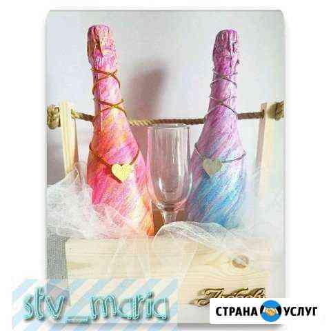 Оформление свадебного шампанского Ставрополь