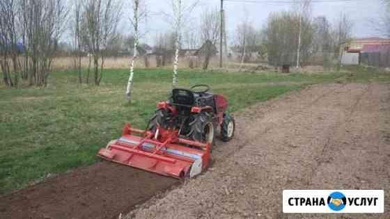Культивация земли мини-трактором Смоленск