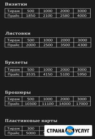 Полиграфия (визитки, буклеты) Санкт-Петербург