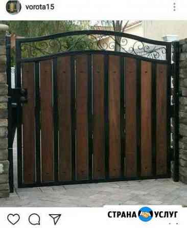 Изготовление железных ворот, дверей, козырьков, ка Владикавказ