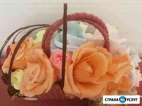Букет из конфет+ доставка с поздравлением Хабаровск