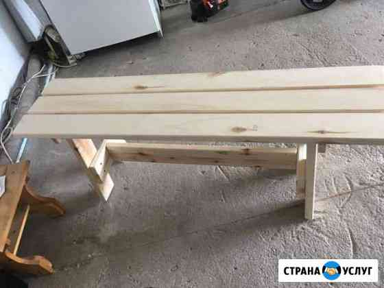 Изготовка скамеек из дерева Вологда