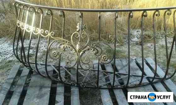 Изготовление кованых перил, решёток, навесов,фонар Кострома