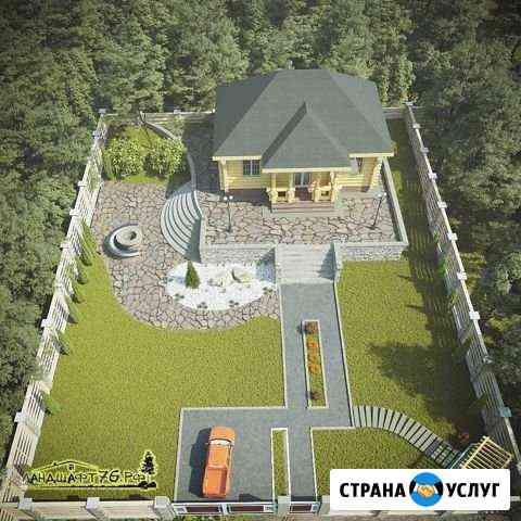 Ландшафтный дизайн участка Большое Село