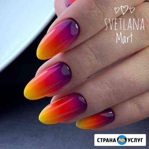 Маникюр, покрытие гель-лак, роспись ногтей Мурманск