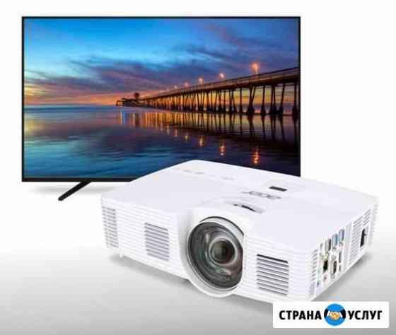 Прокат проектора аренда телевизора в Крыму Симферополь