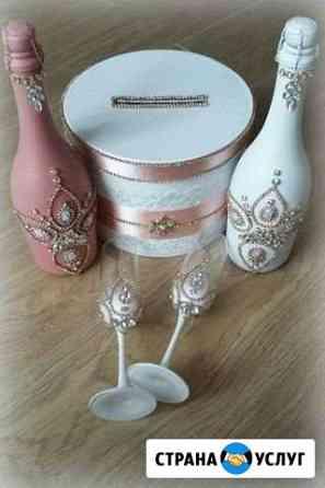 Декор свадебных аксессуаров Омск