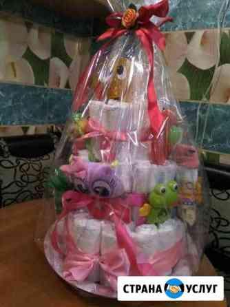 Торт для новорожденного и из сладостей Смоленск