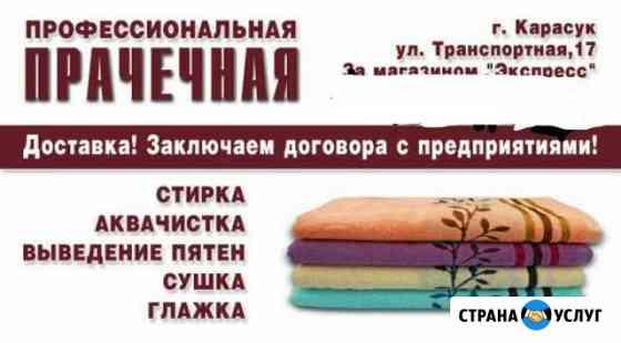 Профессиональная прачечная,химчистка мягкой мебели Карасук