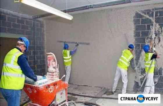 Штукатурка стен машинным способом под маяк Петропавловск-Камчатский