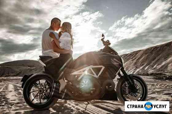 Фотосессия на мотоцикле Новосибирск
