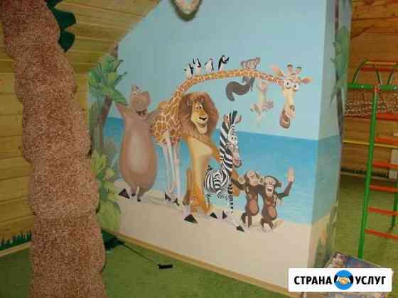 Художественная роспись стен, декоративная отделка Уфа