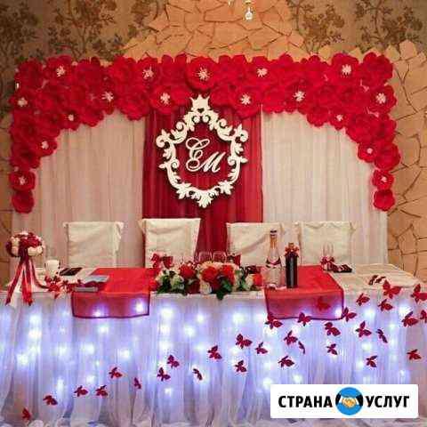 Оформление праздников шарами тканями цветами Сургут