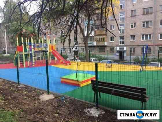 Благоустройство детских, спортивных площадок Уфа
