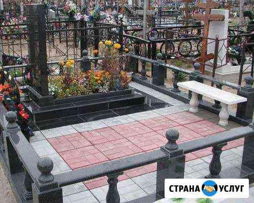 Укладка плитки на могилах Белгород