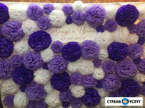 Оформление Свадеб тканями, живыми цветами, шарами Покров