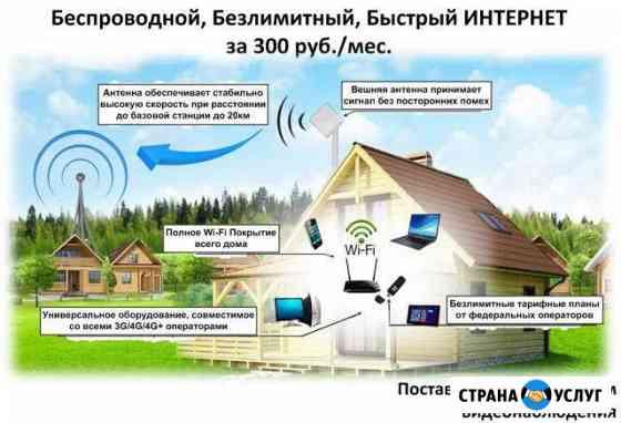 Беспроводной интернет для частного дома / дачи Чебаркуль