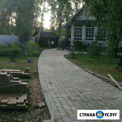 Укладка тротуарной плитки Новосибирск