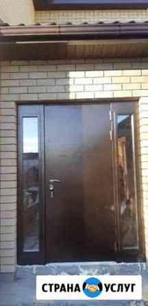 Установка входных дверей,порталов,пороги из плитки Балаково