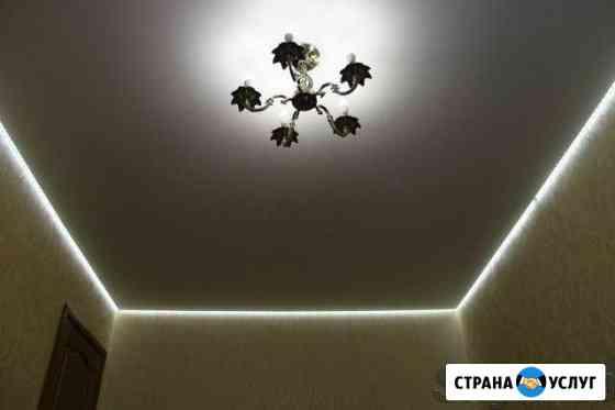 Натяжные потолки, электрика Мурманск