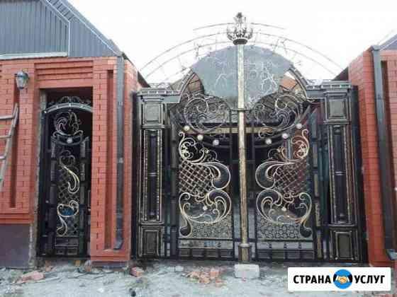 Кованые ворота Баксан