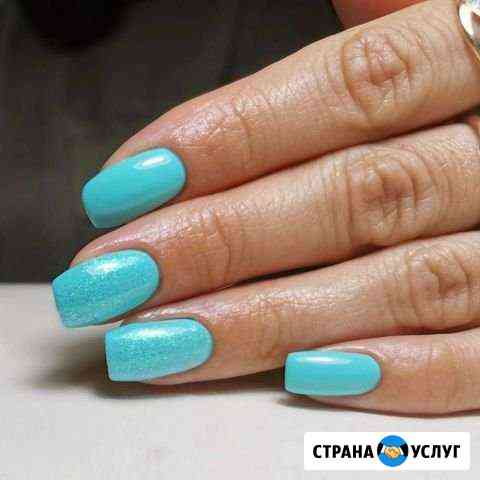 Комбинированный маникюр с покрытием гелем Саранск