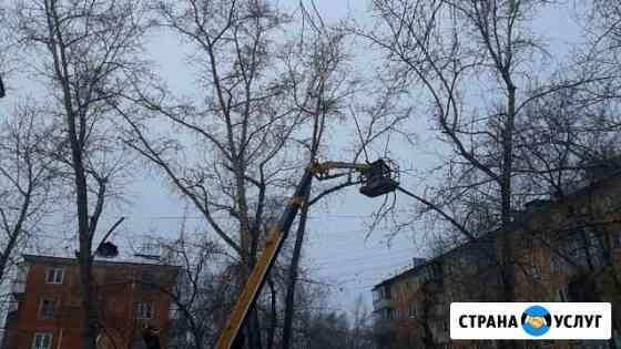 Спил,обрезка деревьев.Дробление Пней/Веток Красноярск
