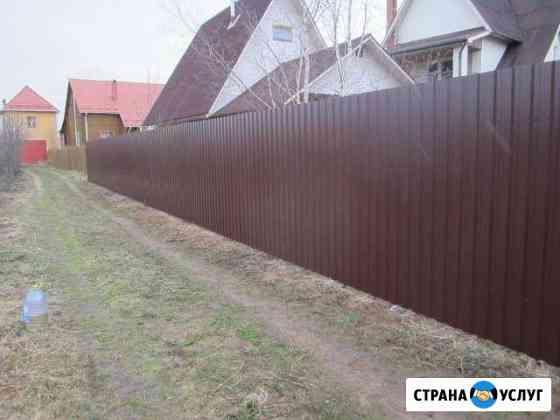 Установка забора Рыбинск