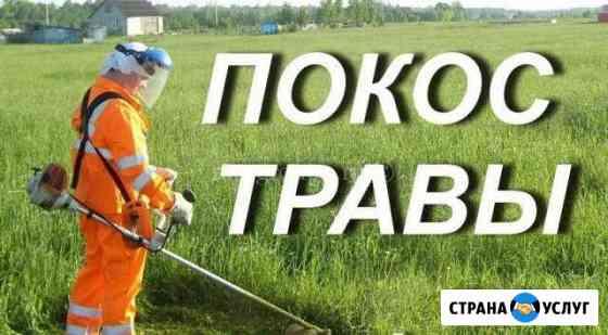 Скосим траву дачном участке.дома. дачи Керчь