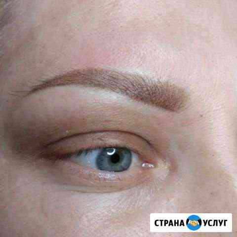 Перманентный макияж бровей и губ в технике напылен Ярославль