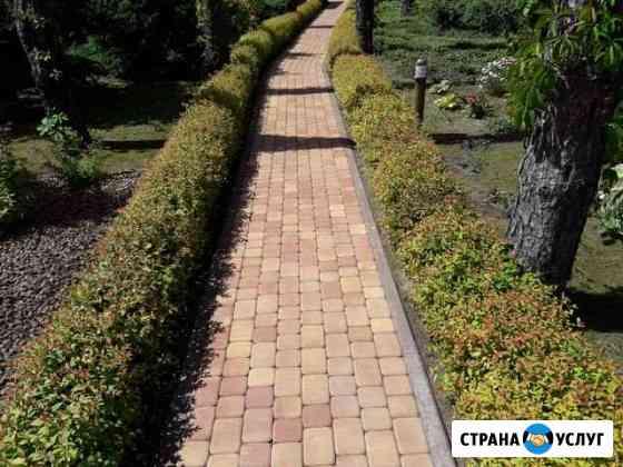 Укладка тротуарной плитки,брущатки Воронеж