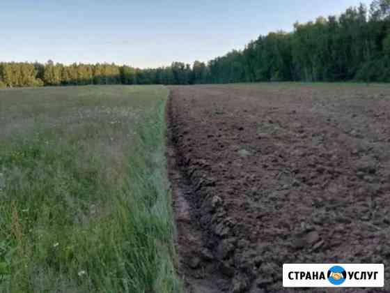 Пахота,дисковка,посев, услуги по культивации земли Костерево