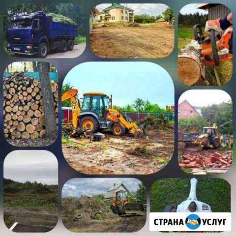 Расчистка участков спил деревьев планировка Казань