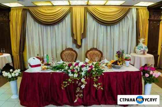 Аренда декора для стола молодоженов Екатеринбург